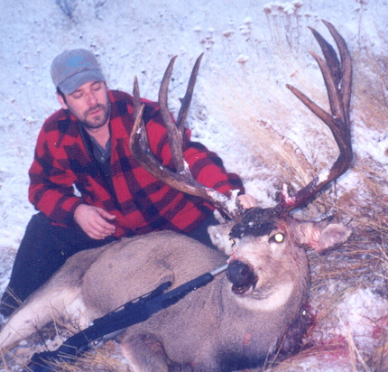 Mulie buck was taken in the Frank Church Wilderness - Idaho Unit 27 - Outfitter Steve Zettle