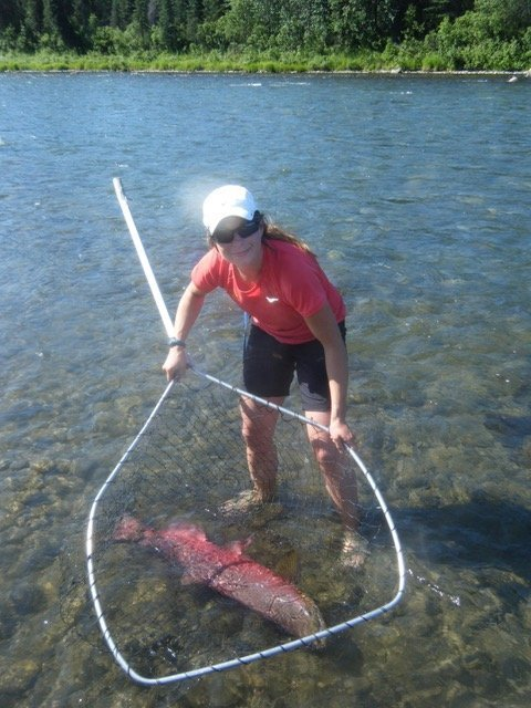 Woman Salmon fishing